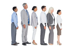 Business people standing behind the other Stock Photo