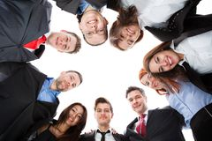 Business people standing in circle Stock Photos