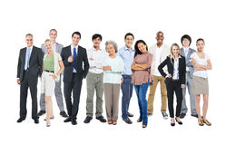 Business People Standing and Happy Royalty Free Stock Photos