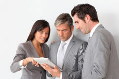 Business People Standing In Hall Royalty Free Stock Photo