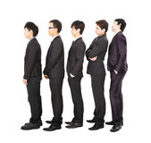 Business people standing in a line Stock Images