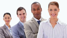 Business people standing in a line Royalty Free Stock Photos