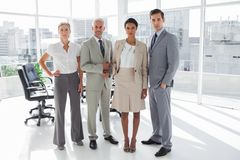 Business people standing in line Royalty Free Stock Photography