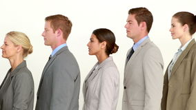 Business people standing line up stock footage