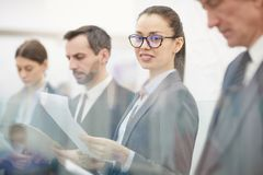 Business People Standing in Line stock photo