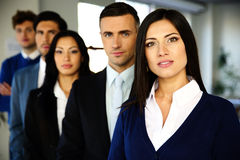 Business people standing lined up Royalty Free Stock Photo