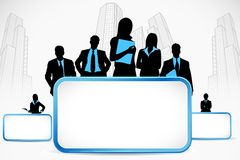 Business People standing with Placard Royalty Free Stock Image