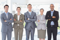 Business people standing in a row Royalty Free Stock Photo