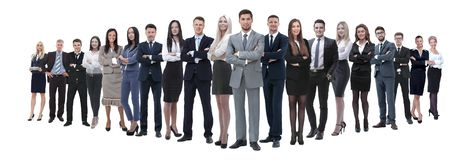 Young attractive business people - the elite business team stock photo