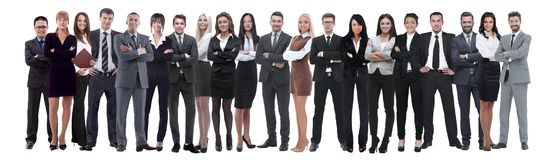 Young attractive business people - the elite business team stock image