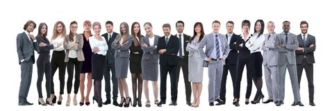 Young attractive business people - the elite business team stock photography