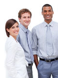 Business people standing together royalty free stock photography