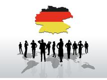 Business people standing under germany graphic Royalty Free Stock Images