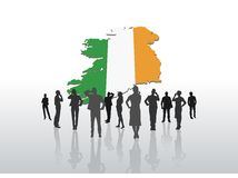 Business people standing under ireland graphic Stock Images
