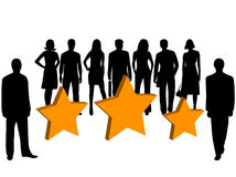 Business people and stars. Illustration of business people and stars Stock Photo