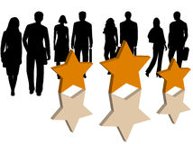 Business people and stars royalty free illustration
