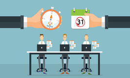 Business people startup to business on working time Royalty Free Stock Image