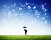 Business People Strategic Planning Outdoor Stock Image