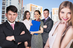 Business people on the street royalty free stock photo