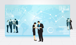 Business people. People  In Studio  Small Group Royalty Free Stock Image