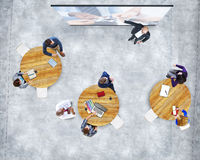 Business People Studying Presentation Team Support Concept Royalty Free Stock Photo