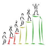 Business people success. Abstract business people success illustration Royalty Free Stock Photography