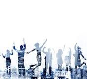 Business People Success Achievement City Concept Stock Photos
