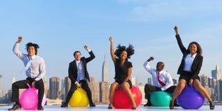 Business People Success Achievement City Concept Stock Image