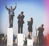 Business People Success Achievement City Concept Stock Photography