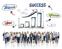 Business People and Success Concepts Royalty Free Stock Images