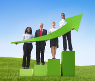 Business people success growth graph Stock Photos