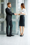 Business People. Successful Business Partner Shaking Hands in th Royalty Free Stock Photography