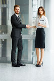 Business People. Successful Business Partner Shaking Hands in th Royalty Free Stock Photo
