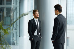 Business People. Successful business partners discuss project Stock Photo