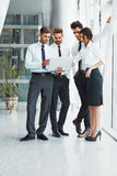 Business People. Successful business partners discuss project Royalty Free Stock Photo