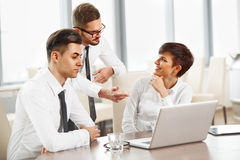 Business People. Successful business partners discuss project Royalty Free Stock Images