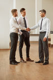 Business People. Successful business partners discuss project. T Royalty Free Stock Photography