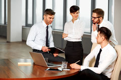 Business People. Successful business partners discuss project. T Stock Image