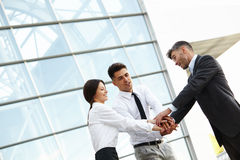 Business People. Successful Team Celebrating a Deal royalty free stock photography
