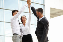 Business People. Successful Team Celebrating a Deal royalty free stock images