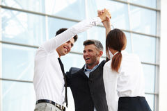 Business People. Successful Team Celebrating a Deal royalty free stock image