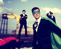 Business People Superhero Inspirations Confidence Team Work Conc Royalty Free Stock Images