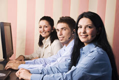 Business people support operators stock images