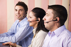 Business people support operators royalty free stock photography