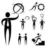 Business people symbol Stock Images