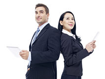 Business people with tablet computer Stock Image