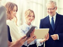 Business people with tablet pc computers at office stock photography