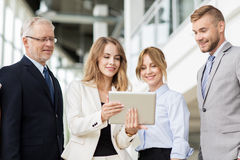 Business people with tablet pc computers at office Royalty Free Stock Photo