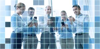 Business people with tablet pc and smartphones Royalty Free Stock Images