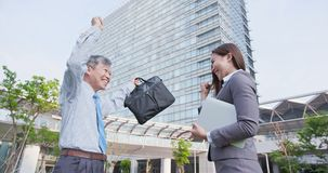 Business people talk happily stock photography
